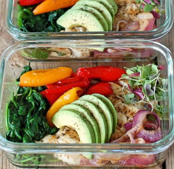 Roasted Sweet Pepper Chicken Lunch Bowls